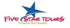 Five star tours logo