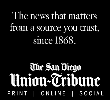 The San Diego Union Tribune Web Banner
